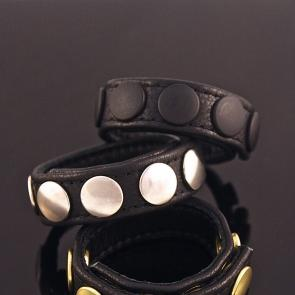 leather cockring black
