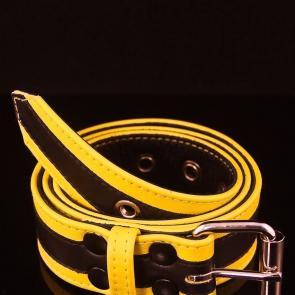 Racer Stripe Leather Belt