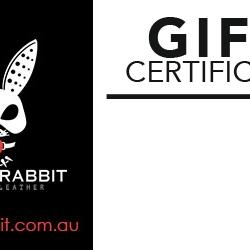 Black Rabbit Premium Leather Gift Certificate