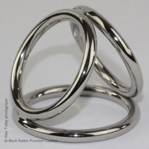 Black Rabbit Stainless Steel Triple Cockring