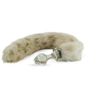 Crystal Delights Crystal Minx Faux Fur Tail Snow Leopard