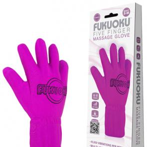 Fukuoku Pink Five Finger Massage Glove Small/Medium RIGHT