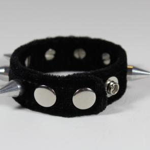 Velvet Cone Spiked Wrist Band
