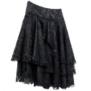 Black Widow Lace Skirt