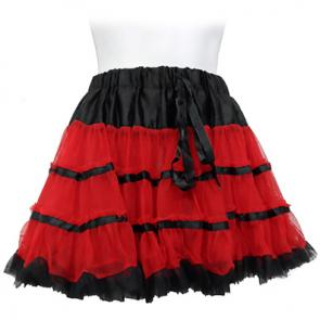 Black and Red Petticoat