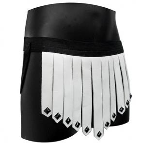 Leather Briefs Kilt With Pyramid Studs