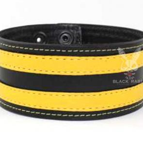 Leather Armband Double Stripe