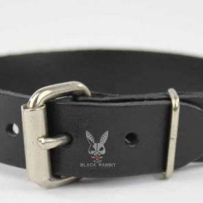 Black Leather Buckle Armband