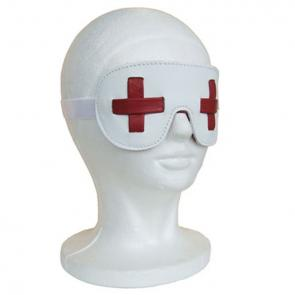 Red Cross Leather Bondage Blindfold