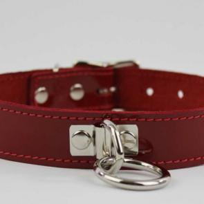 Basic Leather Bondage Ring Collar