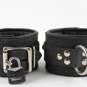 Deluxe Lockable Leather Restraint Cuffs