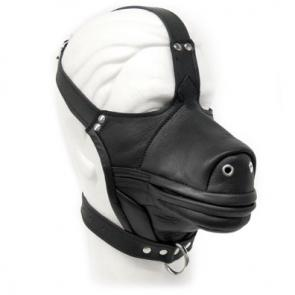Leather Pony Muzzle Head Harness