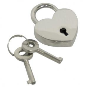 Heart Shaped Nickel Polished Padlock