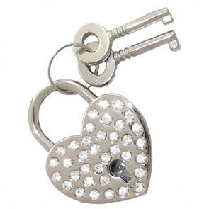 Rhinestone Heart Lock