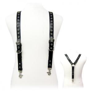 Leather Suspenders With Eyelets