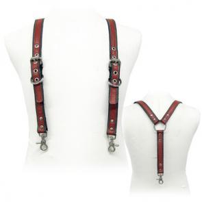 Black Colour Stripe Suspenders