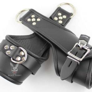 Leather Lined Lockable Wrist Suspension Cuffs