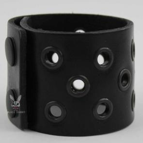 Leather Eyelet Wristband