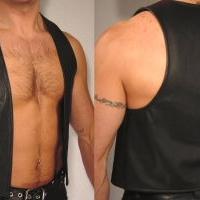 Plain Premium Leather Vest