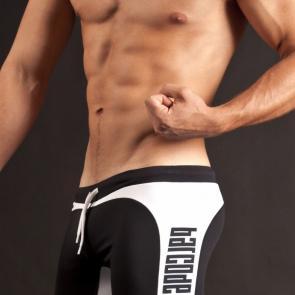 BARCODE Biker Shorts Black White