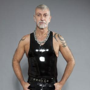 Black Rubber Muscle Shirt