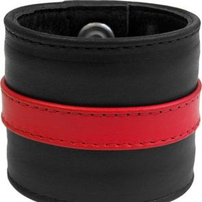 Leather Wristband Colour Stripe
