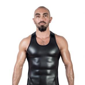 Mister B Neoprene Tank Top Black