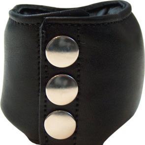 Leather bdsm ball bag