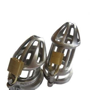 BON4 Plus Stainless Steel Chastity Cage Combi Small & Regular