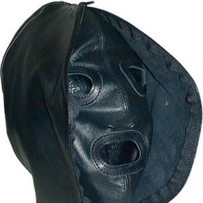 Double Face Leather Hood by Mister B