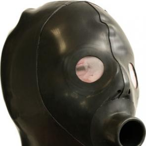 Extreme Rubber Piss Gag Hood