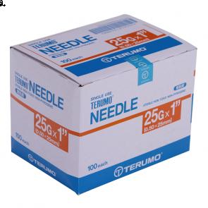 """TERUMO Hypodermic Needles 25G x 1"""""""