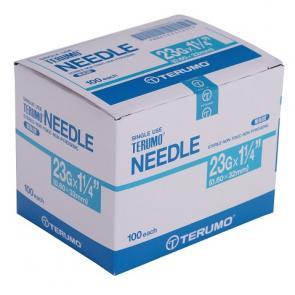 "TERUMO Hypodermic Needles 23G X 1.25"" (BLUE)"