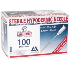 "Livingstone Hypodermic Needles 22G x 1"" (BLACK)"