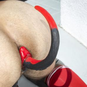 OXBALLS Colour Swirl Silicone Puppy Tail