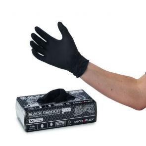 Blood Play & Fisting Gloves Microflex Black Dragon Nitrile