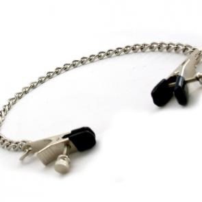 Large Adjustable Bull Nose Nipple Clamps With Chain
