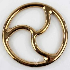 Silicon Bronze Gold Triskelion Shibari Ring