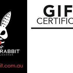 Black Rabbit Premium Leather Gift Certificate