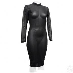 Sexy Sheer Net Black Fetish Dress