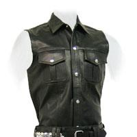 Black Leather Scottish Kilt
