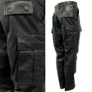 Premium Leather Combat Pants