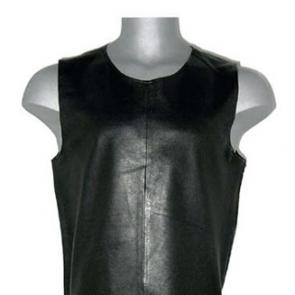 Black Leather Tank Top