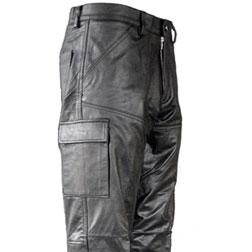Black Leather Combat Pants