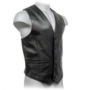 Lambskin Classic Buttoned Vest