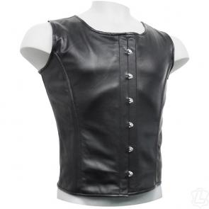 Mens Steel Boned Leather Corset