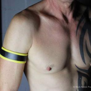 Leather Armband With Colour Edge