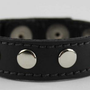 Leather Cockring With Metal Rivets