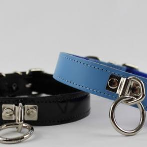 Fleece Lined Leather Collar With O Ring