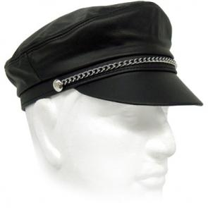 Leather Brando Cap With Chain